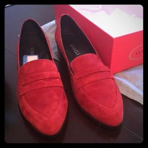 Burgundy Loafers Size 10